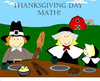 Thanksgiving Day Dinner Math Smartboard Activity