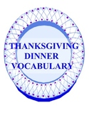 Thanksgiving Day Dinner Vocabulary Learning Center {Common