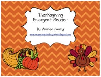 Thanksgiving Day Emergent Reader