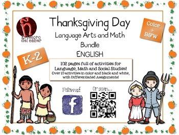 Thanksgiving Day - English BUNDLE - Reading, Social Studies & Math
