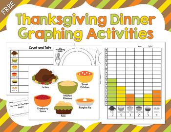 Thanksgiving Day FREEBIE!  Thanksgiving Dinner Graphing Ac