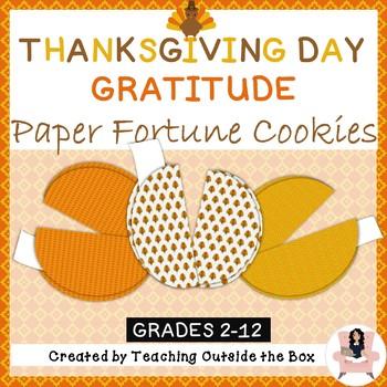 Thanksgiving Day Gratitude Activity