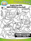 Thanksgiving Day Picture Shapes Clipart {Zip-A-Dee-Doo-Dah Designs}