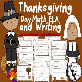 Thanksgiving Day Math, ELA, and Writing