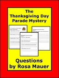 Thanksgiving Day Parade Mystery Reading Comprehension