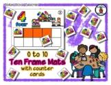 Thanksgiving Day Parade - Ten Frame Mats 0 to 10 & Counter Cards