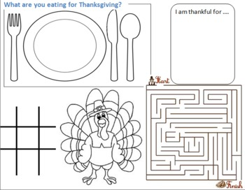 Thanksgiving Day Placemats