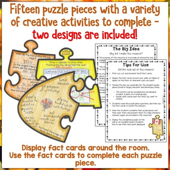 Thanksgiving Day Scavenger Hunt Puzzle Poster