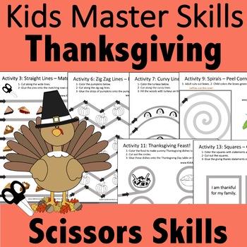 Thanksgiving Day Scissors Skills Activities