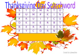 Thanksgiving Day Searchword