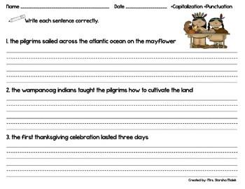 Thanksgiving Day Sentences