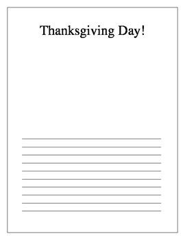 Thanksgiving Day! Writing