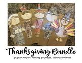 Thanksgiving Day crafts brown paper bag puppet pilgrim fal