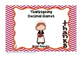 Thanksgiving Decimal Center Games