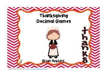 Thanksgiving Decimal Center Games