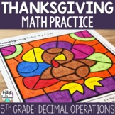 Thanksgiving Math Practice - Decimals