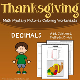 Adding Subtracting Dividing Multiplying Decimal, Thanksgiving 5th Grade Coloring