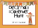 Thanksgiving Decimals Scavenger Hunt - 6.NS.3 -Around the Room