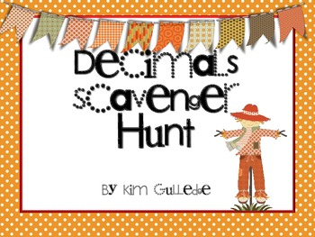 Thanksgiving Decimals Scavenger Hunt - 6.NS.3 -Around the Room