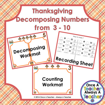 Decomposing Numbers from 3 – 10 • Thanksgiving