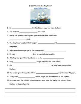 Thanksgiving- Deconstructing the Mayflower
