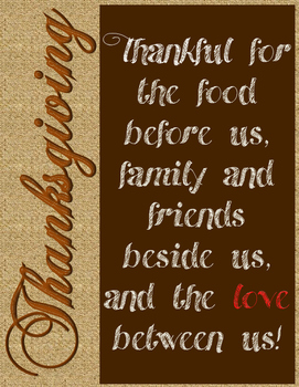 FREE Thanksgiving Decorative Poster ~ Thankful for Followers