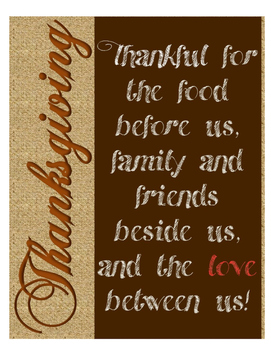 Thanksgiving Decorative Poster FREE