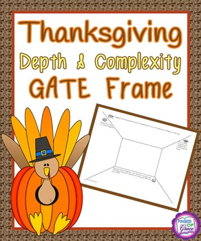 Thanksgiving Depth & Complexity GATE Frame