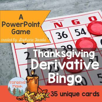 Thanksgiving Derivative Bingo