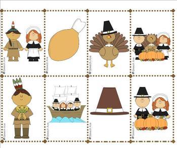 Thanksgiving Describing Bingo