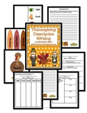Thanksgiving Descriptive Writing using Sensory Details Pack