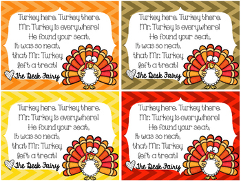 Thanksgiving Desk Fairy (Freebie)