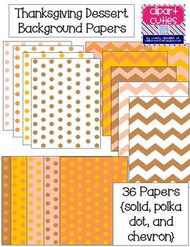 Thanksgiving Dessert Background Papers {Solid, Polka Dot, & Chevron}