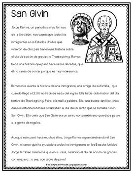Thanksgiving / Día de acción de Gracias multi-level