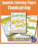 Thanksgiving/Dia de accion de dar gracias-Fall Spanish Coloring Pages BUNDLE