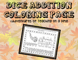 Thanksgiving Dice Addition {COLORING PAGE!}