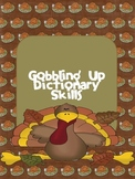 Thanksgiving Dictionary Skills Activity