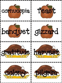 Thanksgiving Dictionary Skills Activity