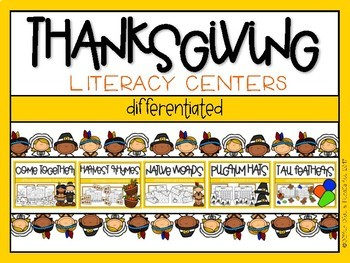Thanksgiving Differentiated Literacy Centers