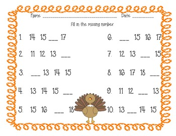 Thanksgiving Differentiated Math Activities