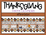 Thanksgiving Differentiated Math Centers