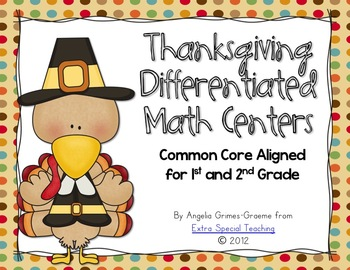 Thanksgiving Differentiated Math Centers - Common Core Aligned