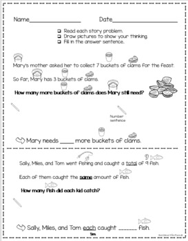 Thanksgiving Differentiated Math Practice - First Grade