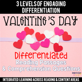 Valentine's Day Differentiated Reading Passages & Questions
