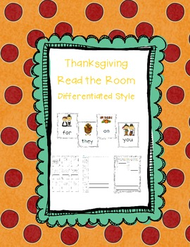Thanksgiving Differentiated Sight Word Read the Room