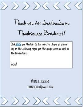 Thanksgiving Digital Breakout