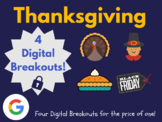 Thanksgiving Digital Breakout Bundle (Google Classroom, Di