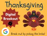 Thanksgiving - Digital Breakout! (Escape Room, Scavenger Hunt)