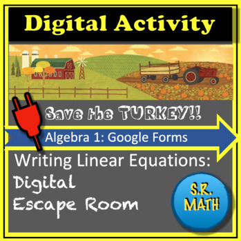Thanksgiving Digital Escape Room:  Writing Linear Equations.