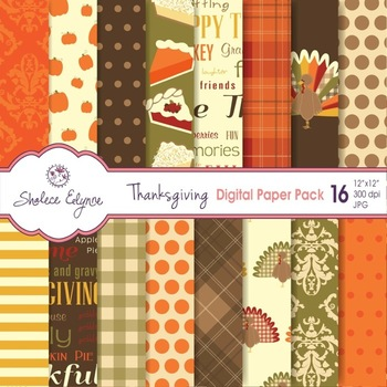 Thanksgiving Digital Paper Pack